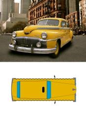Vectorial cenital vehículo.
