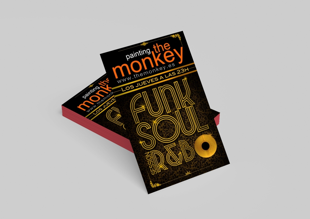 Flyer Painting the Monkey, Madrid.